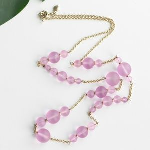 NWOT! J. Crew Necklace Pink Bead Gold Chain